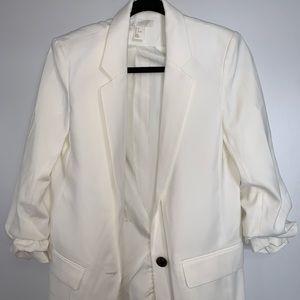 H&M cream women's blazer